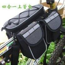 Mountain bike self-driving bag backpack front tube bag saddle bag four-way car before the bag riding mobile phone bag
