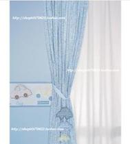 Q宝车队。M*thercare婴童卡通印花窗帘床品配套可改成床单