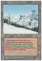 Star Card] Magic brand MTG R version of Taiga coniferous Forest English 85 products MP