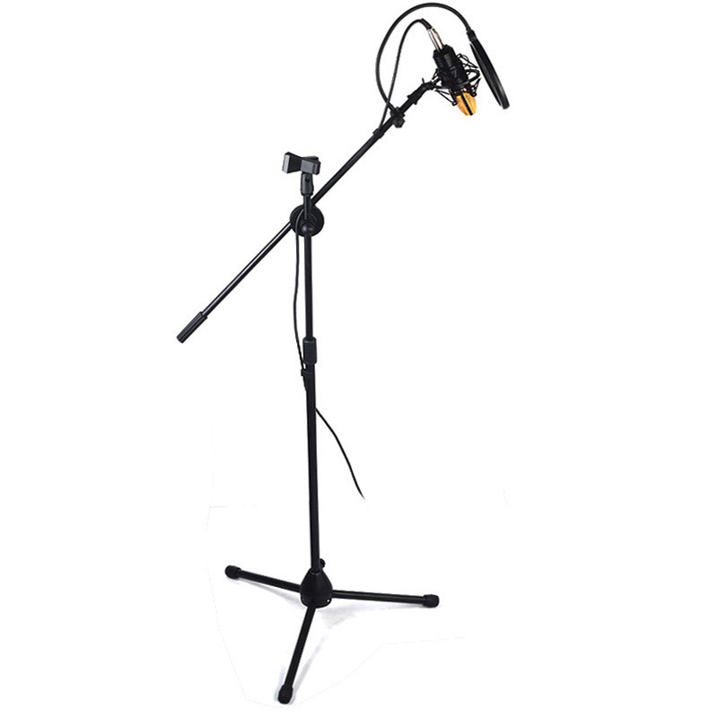 Floor stand microphone stand Floor stand microphone stand Capacitor microphone stand retractable triangle stand