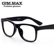 Korean TR90 glasses frame male full frame glasses without lenses frame female art RETRO black box flat mirror glasses