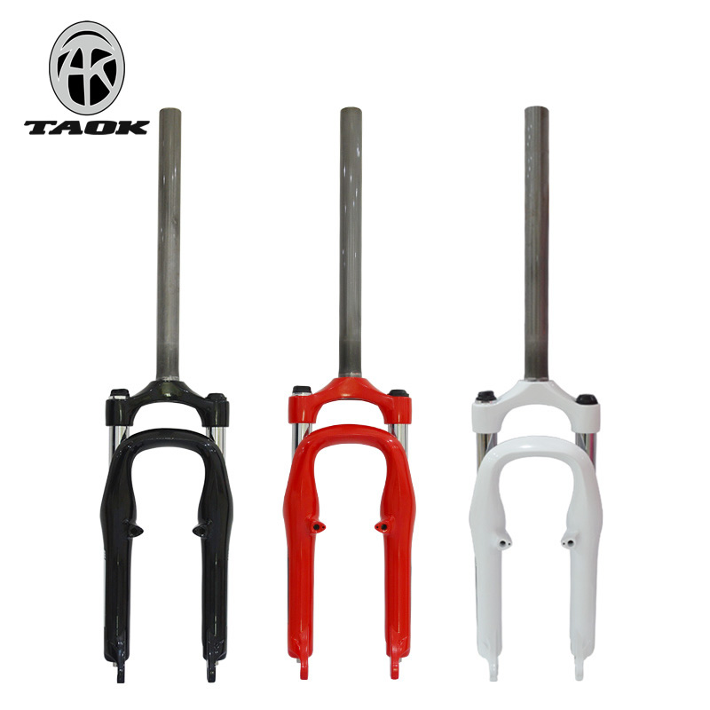 TAOK top mountain bike front fork folding small wheel bicycle 20 inch spring shock absorber aluminum alloy shock absorber