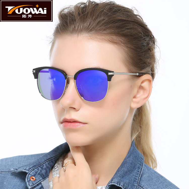 [The goods stop production and no stock]New ladies sunglasses men and women polarizers tide people driving frog mirror retro driver sunglasses female sunglasses