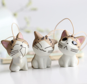 Hot cat cute little odd handmade ceramic South Korea popular jewelry bag hanging ornaments special offer