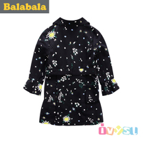 Balla Balla baby clothes girls woven windbreaker in 2017 spring coat children in large zip around wallet 22141170407