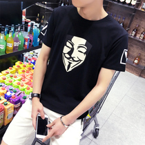 Summer Korean Japanese man slim trend t top