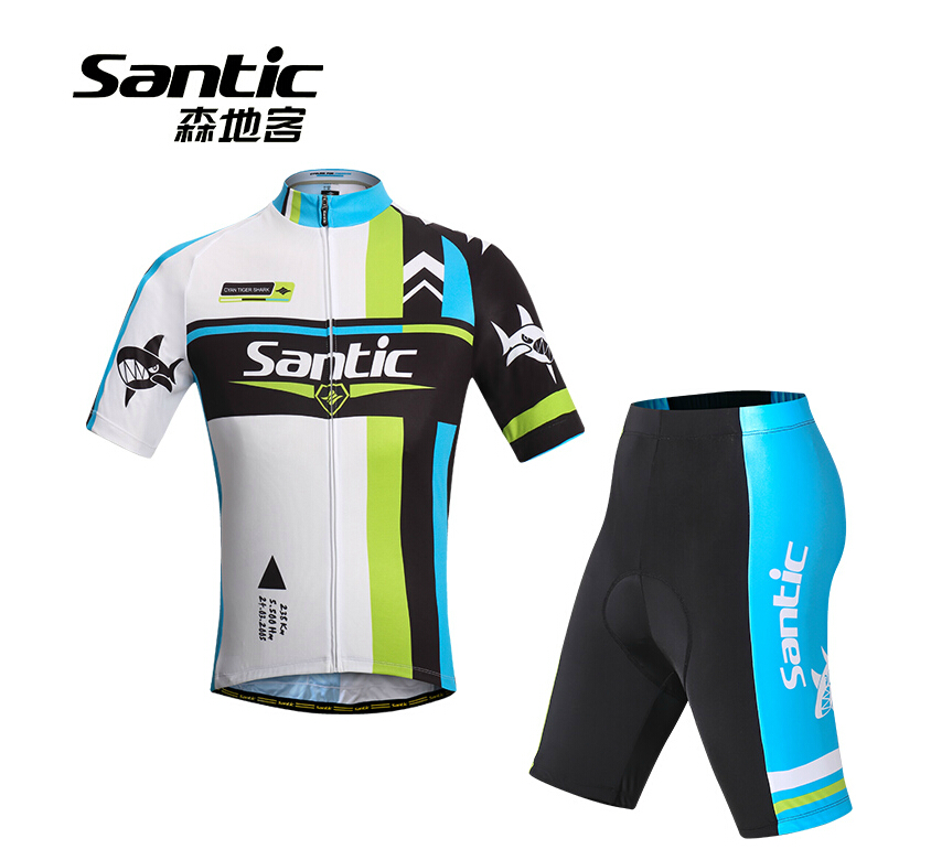 Santic/Moritake Summer Cycling Suit Men's Short-sleeved Cycling Suit Second Generation Upgraded WMCT047V