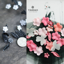 DIY handmade black eager perm slices mixed A70 three-dimensional pressure zou flower creative materials with wedding accessories