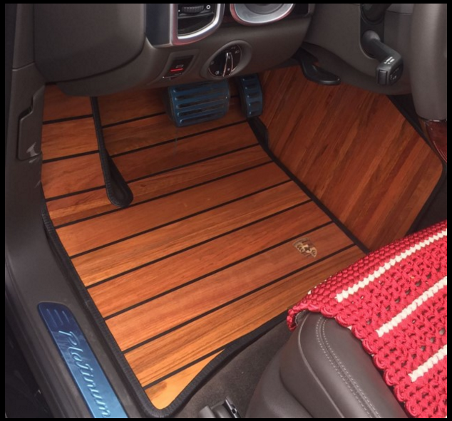 Car Wood Floor Footpad 2017 Land Rover Rover Discovery 4 Discovered that Divine Aurora surrounds Teak Footpad