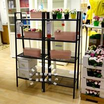 IKEA Ikea Wuxi Lerberg shelf shelves shelf storage shelf dark grey white