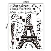 Romantic Eiffel Tower Bedroom Софа была Backgound Decoration Wall