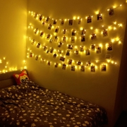 The bedroom room decoration lights flashing light romantic stars live LED string light bulb dormitory