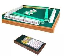 Solid carving mini Mahjong 15#20# Dormitory Travel mini Mahjong card with table ruler