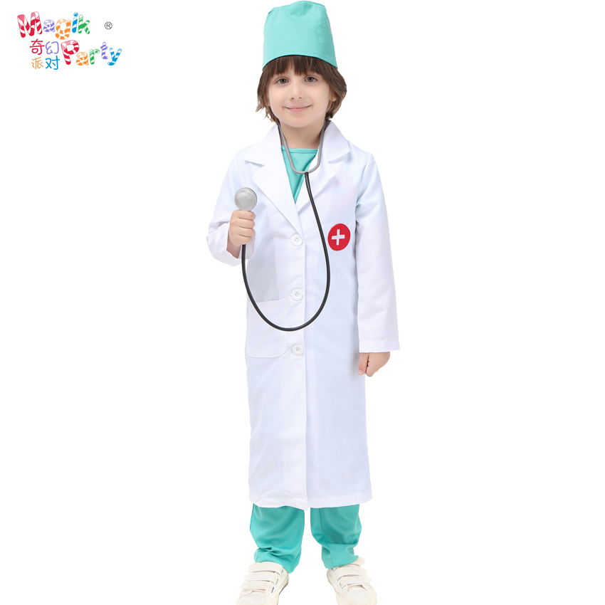 Halloween Children's Costume Cosplay Boy Surgeon Nurse Cosmetic Ball Role-playing Costume