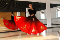 Dance clothes Xinjiang ethnic dance large skirt minority costumes practice skirt Uygur skirt children custom