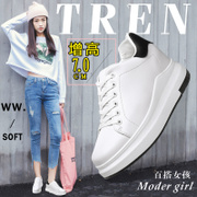 The increase in white shoes shoes 2017 new tie thick shoes Korean white sports shoes all-match female students