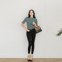 Autumn Black high waist skinny stretch Korean slim skinny jeans