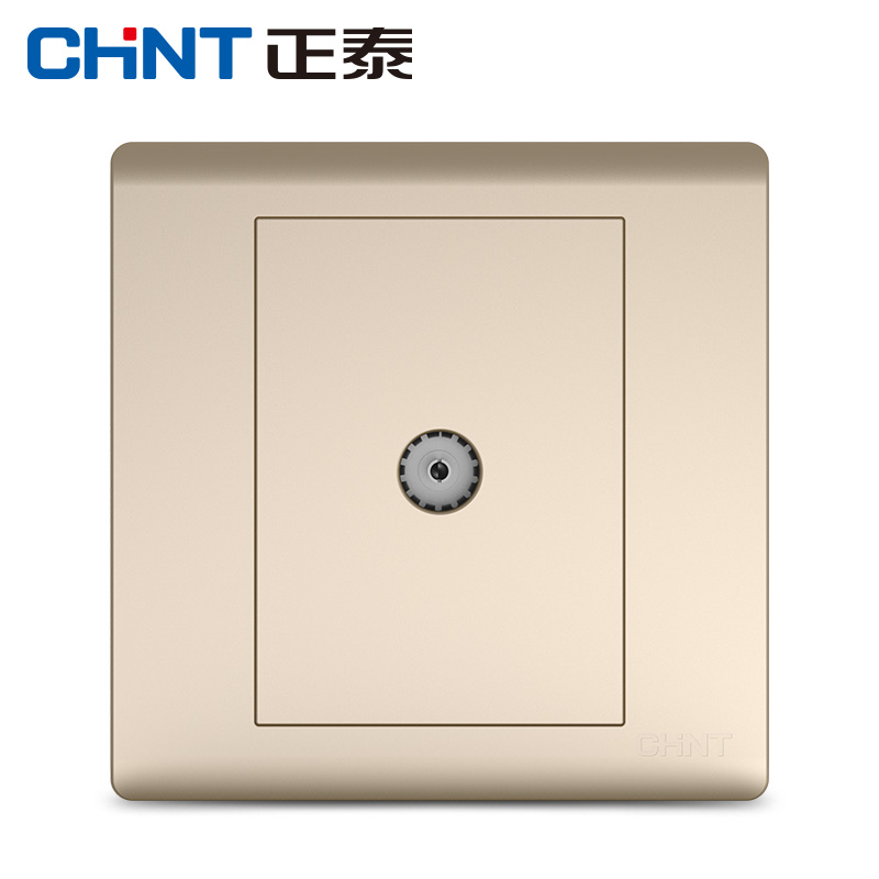 Chint switch socket panel NEW7D champagne gold TV socket type 86 switch panel