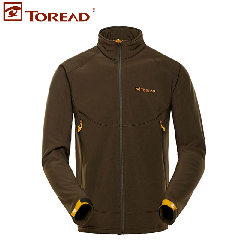 Pathfinder autumn and winter outdoor soft shell clothing men's windproof warm jacket comfortable and breathable