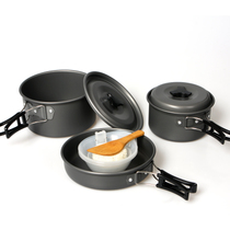 2-3 people set pot outdoor camping stove cookware set pot 2-3 people high-quality portable non-stick pot