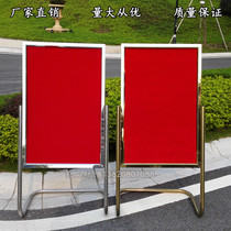 Водная вывеска стенд знак из нержавеющей стали Афиша плакат стенд отель L-образная нога приветственный знак направляющий знак