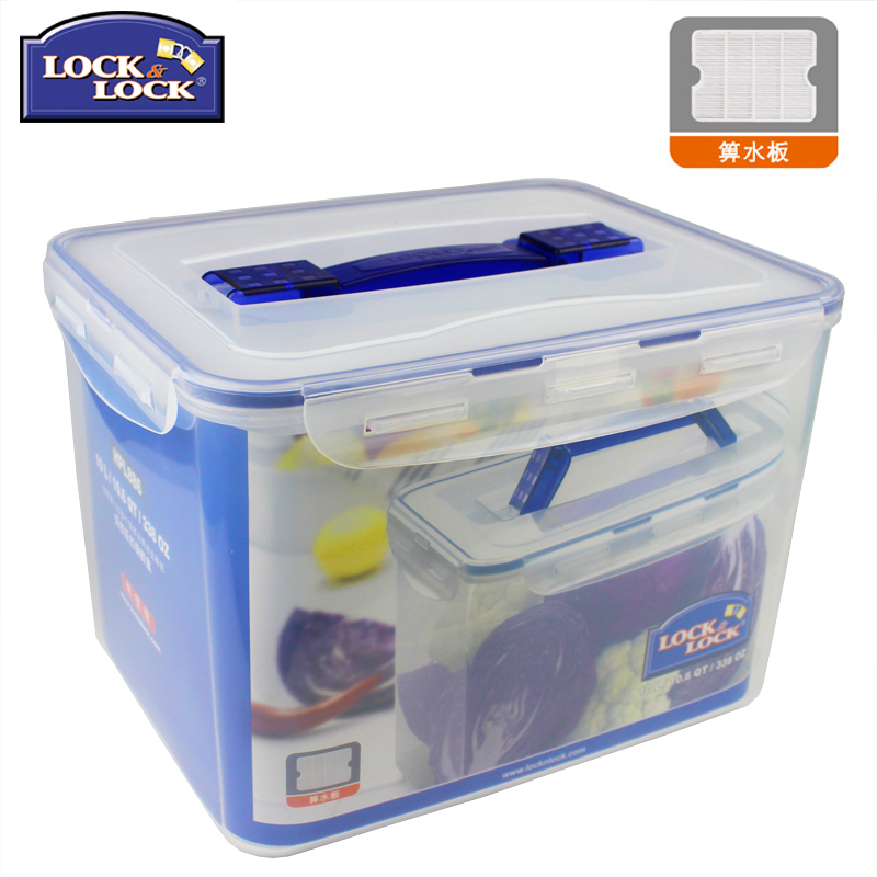 Large-sized leachate with handle in plastic storage box made of PP material for Le Ke Le Ke Ke Fresh Preservation Box