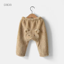 Climbing autumn cashmere for men and women babies baby bear pants