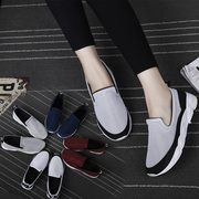 2017 new summer running shoes female Korean students all-match net surface pedal lazy leisure loafer