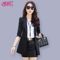Small female 2017 new spring suit long spring jacket in the spring and autumn fashion Korean slim Joker suit spring