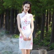 Elena girl cheongsam 2017 new slim slim skirt short daily cheongsam cheongsam dress