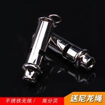 SOS Whistle Metal referee whistle referee whistle Sentry whistle life whistle Belt rope outdoor sports whistle