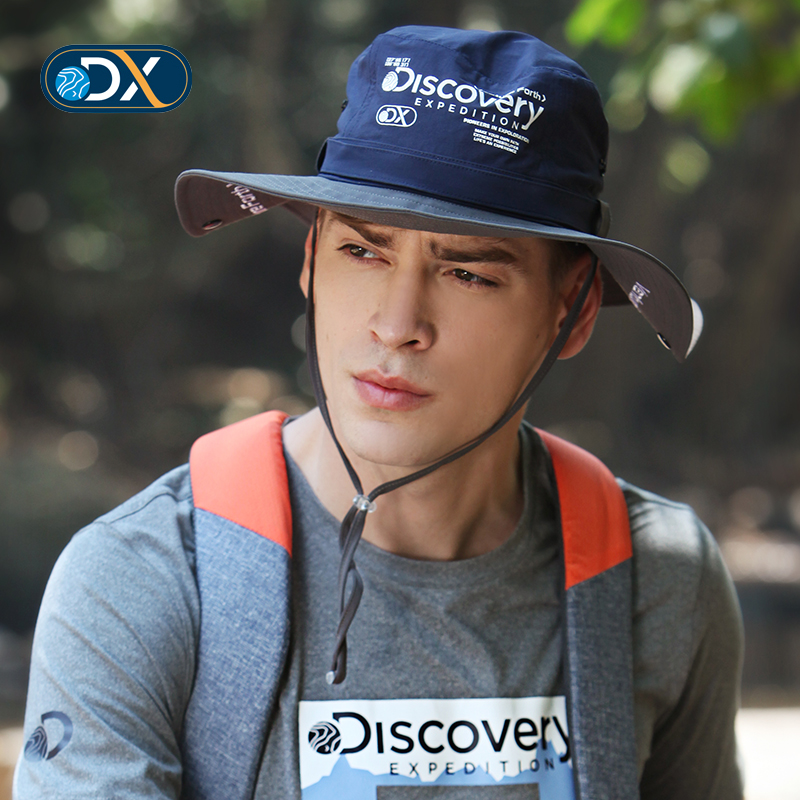 Discovery outdoor male big hat hat fishing hat Mountaineering windproof walking EELF81125