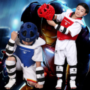 The right day adult children thickened Taekwondo full set of five sets of forming a protective helmet to send packets