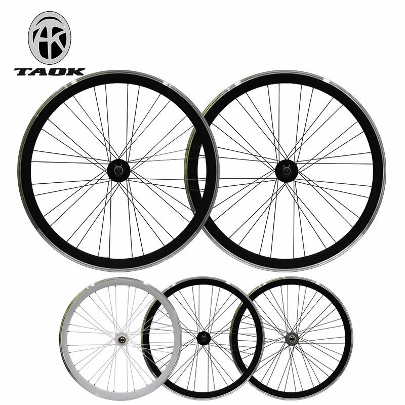TAOK Tuoke 700C dead fly wheel group bicycle 40mm front and rear wheel V brakes down riding back brake live fly wheel hub