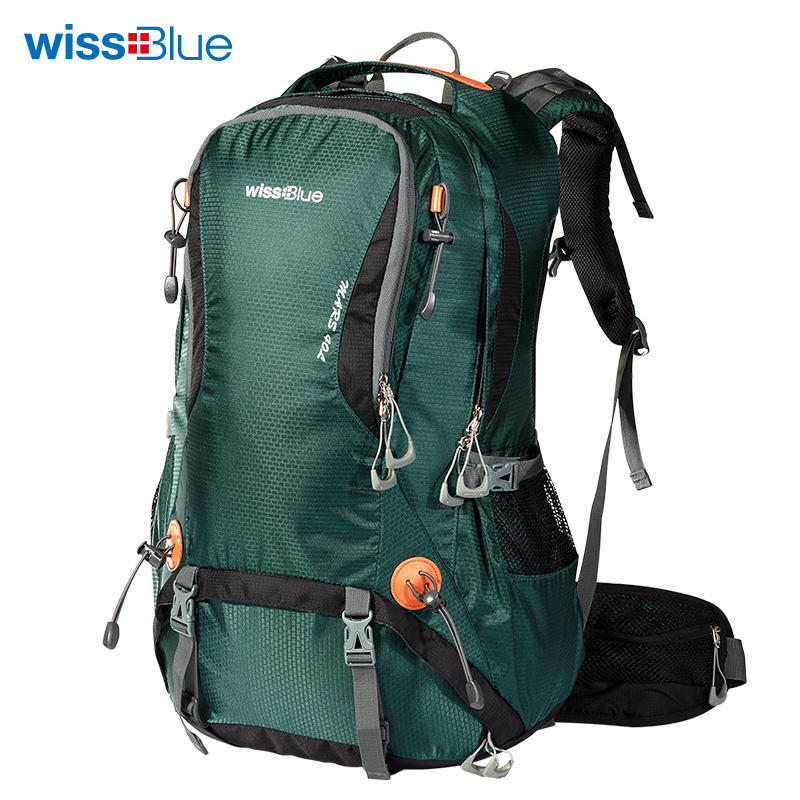 Wissblue authentic outdoor mountaineering bag female 50L outdoor backpack male travel travel backpack waterproof