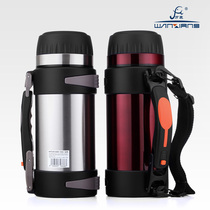 Genuine Vientiane insulation kettle Thermos bottle stainless steel outdoor travel sports kettle Large capacity 2L car travel pot