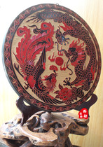 Yunnan National characteristics of traditional handicraft wood carving woodcut painting wall hanging decoration Specialty gifts Longfeng Chengxiang