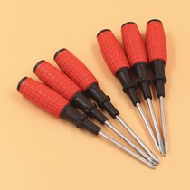 Corn Cross Screw Batch grenade 3 inch cross screwdriver home daily red handle with magnetic starter