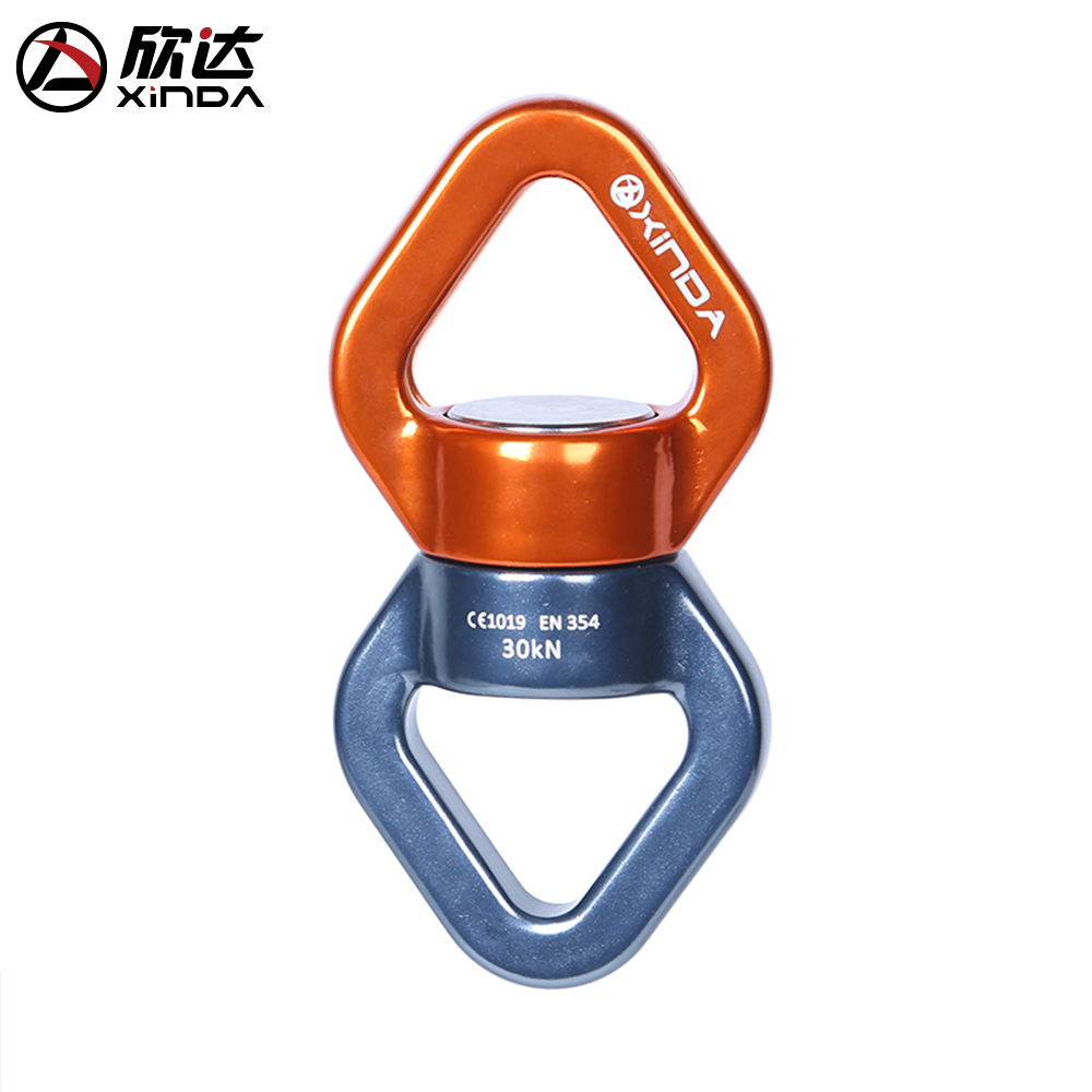 Xinda outdoor climbing universal wheel fixed connector rotating connector rope anti knot knot runner high altitude yoga