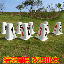 DAO Pier Track and Field competition training large Road sub-grade ABS plastic triangular runway split card