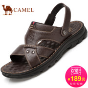 Camel/ camel sandals men's summer 2017 new leather, leather sandals, beach sandals, casual soles, casual slippers, men