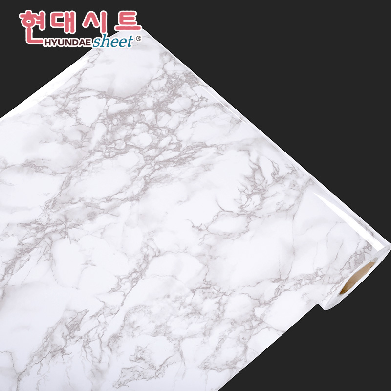 Korean environmental marble furniture renovation sticker self-pasting paint waterproof cabinet, wardrobe, table self-pasting paper