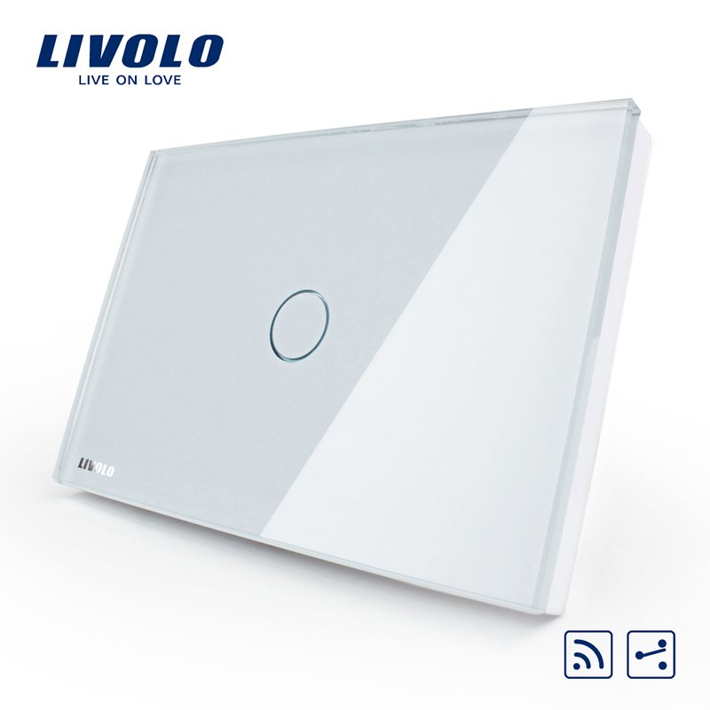[The goods stop production and no stock]Livolo switch 118 touch switch smart home products / rectangular C8 white remote control open