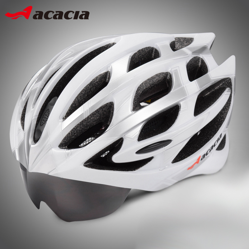 Bicycle integrated helmet riding glasses goggles bicycle helmet insect net helmet equipment accessories