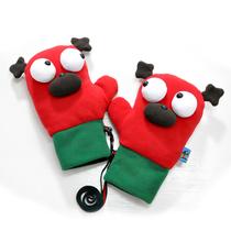 Plumo gloves women winter thick warm Korean cute cute cartoon plush mittens m Lulu