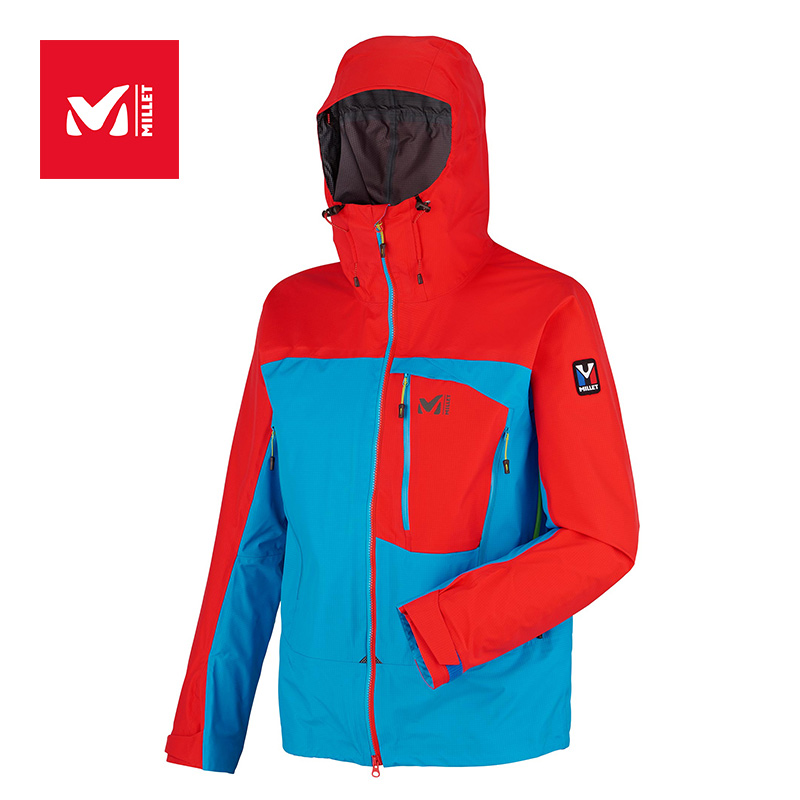 MILLET Men's Outdoor Mountaineering Wind-proof and Waterproof Charge Garment MIV6578