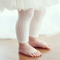 Popular cotton summer baby infant girls tights FishNet moved nine thin cotton pants and children socks