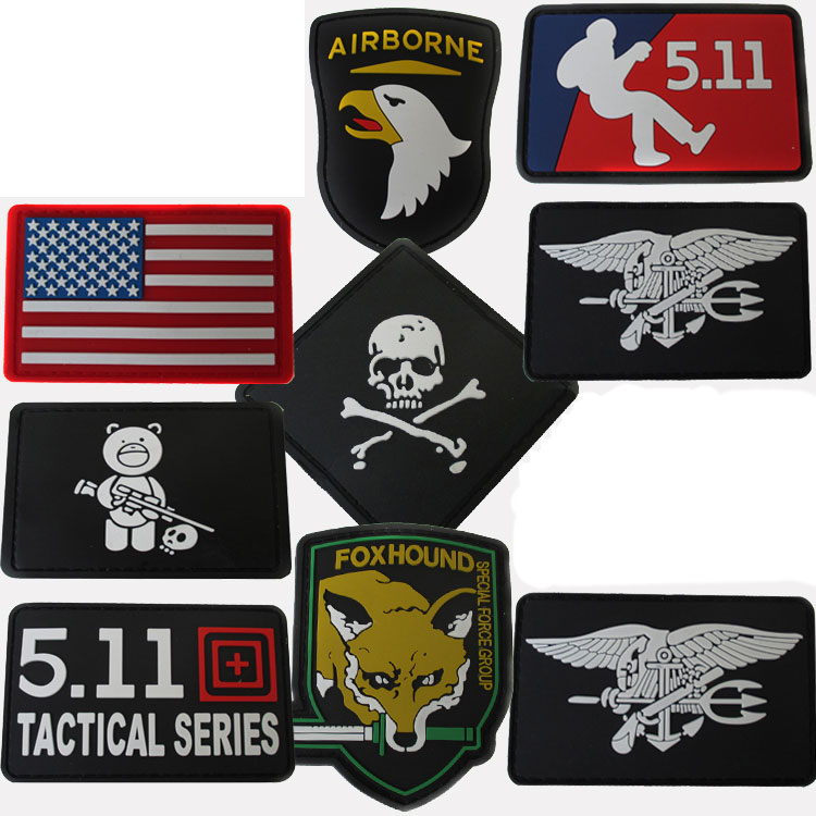 Pvc rubber thickened stickers tactical badge logo Epaulettes backpack armband badge magic outdoor equipment supplies
