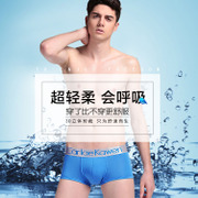 The young men's underwear men's pants Metrosexual ultra-thin breathable mesh gauze four pants dry convex angle