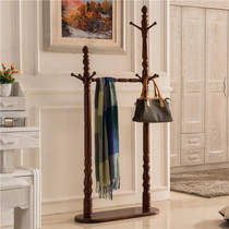 Bedroom hanger floor-to-ceiling European-style solid wood coat rack coat rack living room Chinese-style home clothes rack American